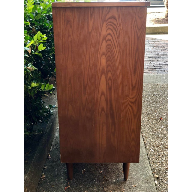 1960s 1960s Heywood Wakefield 5 Drawer Highboy For Sale - Image 5 of 11