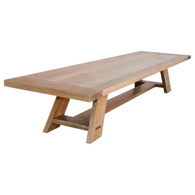 Rustic Banquet Table Made From Rift Sawn White Oak For Sale - Image 13 of 13
