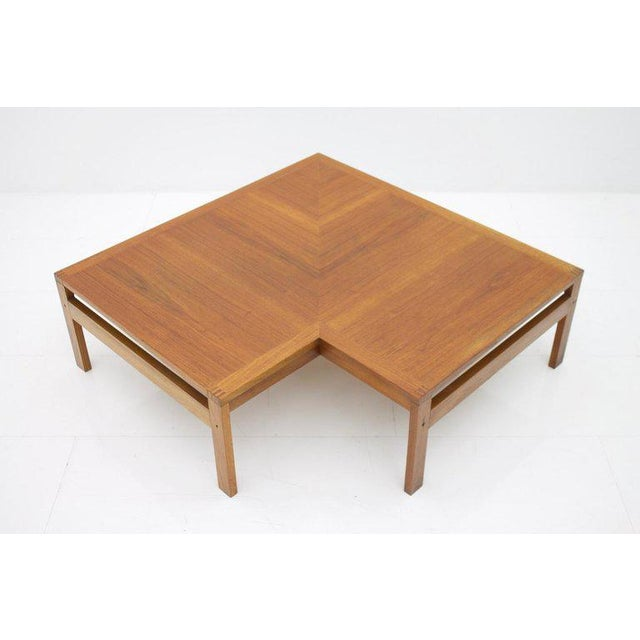 France & Son Torben Lind Modular Seating Group With Corner Table France & Son 1965 For Sale - Image 4 of 12