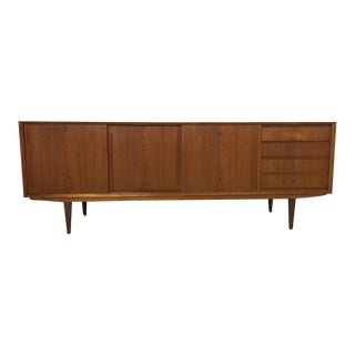 h.p. Hansen Danish Modern Teak Credenza For Sale