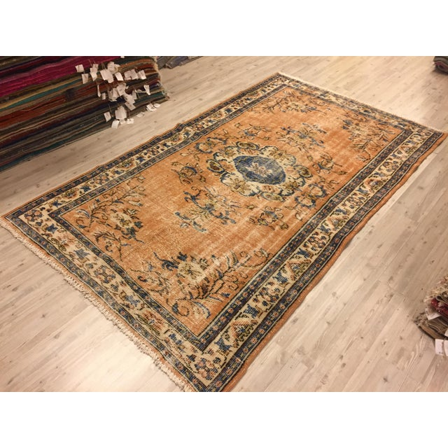 Turkish handmade handwoven vintage anatolian OUSHAK rug. We collect old vintage antique rugs from Anatolia, which is the...