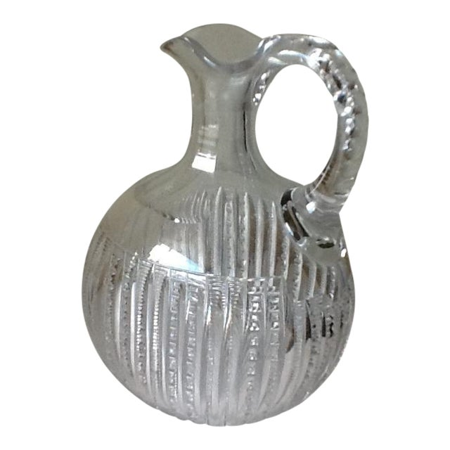 Vintage Etched Crystal Decanter or Pitcher - Image 1 of 11