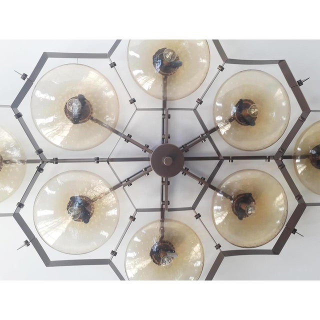 Metal Beehive Flush Mount by Fabio Ltd For Sale - Image 7 of 11