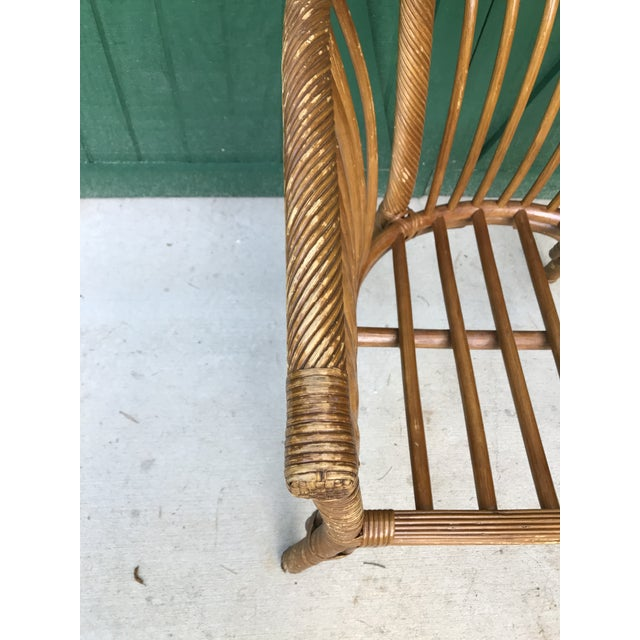 Boho Chic 1950s Boho Chic Franco Albini Bamboo Side Chair For Sale - Image 3 of 11