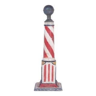 19th Century Folky Barber's Pole For Sale