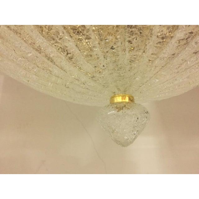 Vintage Murano Glass Flush Mount Chandelier For Sale - Image 6 of 10