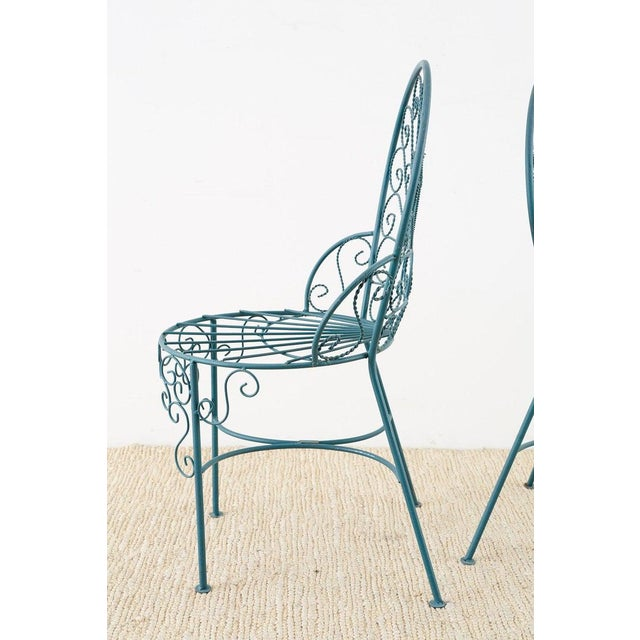 Pair of Salterini Style Iron Garden Patio Chairs For Sale - Image 9 of 13