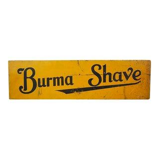 Sign - Vintage 'Burma Shave' For Sale