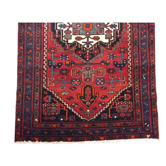 Persian Hand Knotted Runner 3'11 X 10' For Sale - Image 4 of 6