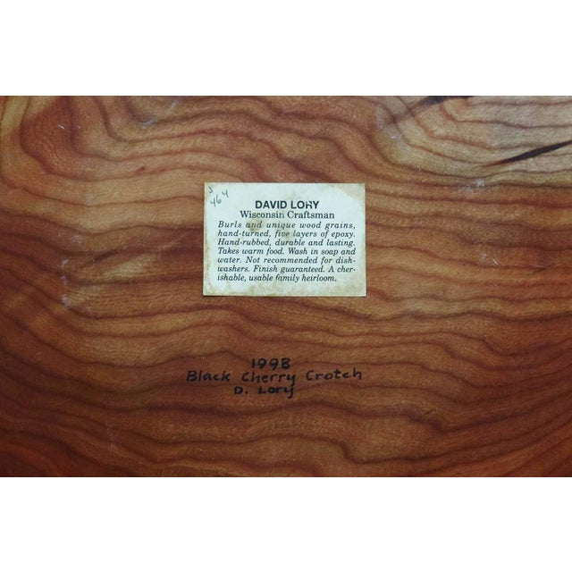 Modern David Lory Wooden Bowl For Sale - Image 3 of 3