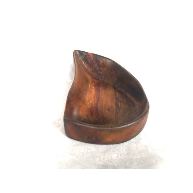 1950s Organic Modern Hand Carved Wooden Bowl For Sale In New York - Image 6 of 11