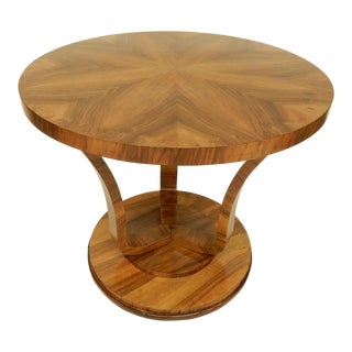 Art Deco Round Tulip Shaped Side Table For Sale
