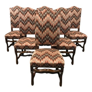Antique French Louis XIII Style Dining Chairs - Set of 6 For Sale