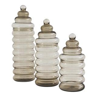 Holmegaard Mid-Century Primula Jars, S/3 For Sale
