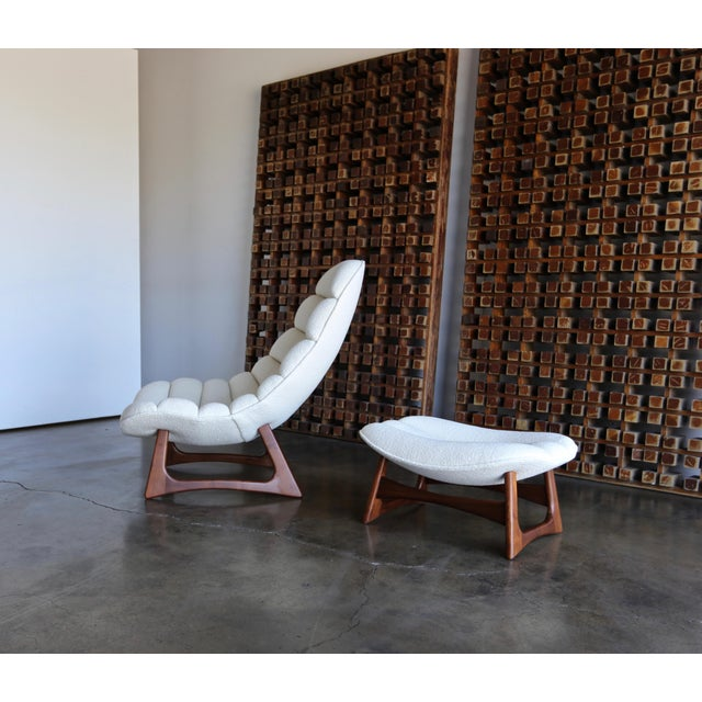 Mid-Century Modern Adrian Pearsall Lounge Chair and Ottoman for Craft Associates Inc., Circa 1960 For Sale - Image 3 of 13