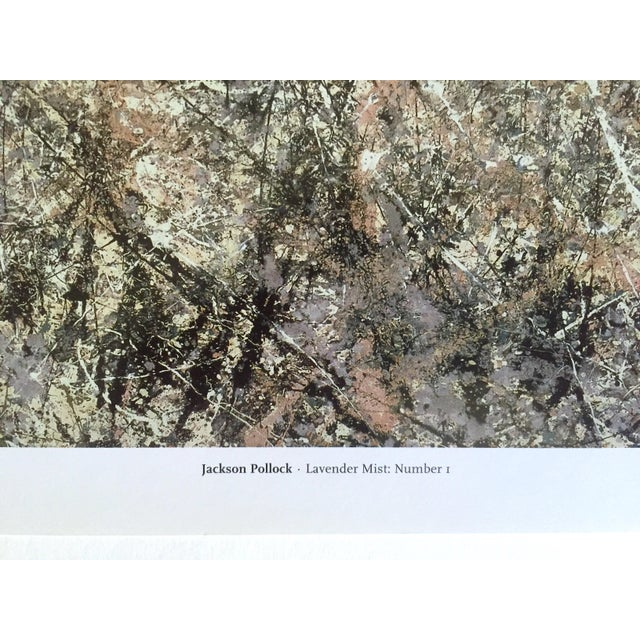 """Jackson Pollock Foundation Abstract Expressionist Collector's Lithograph Print """" Lavender Mist : No. 1 """" 1950 For Sale - Image 10 of 13"""