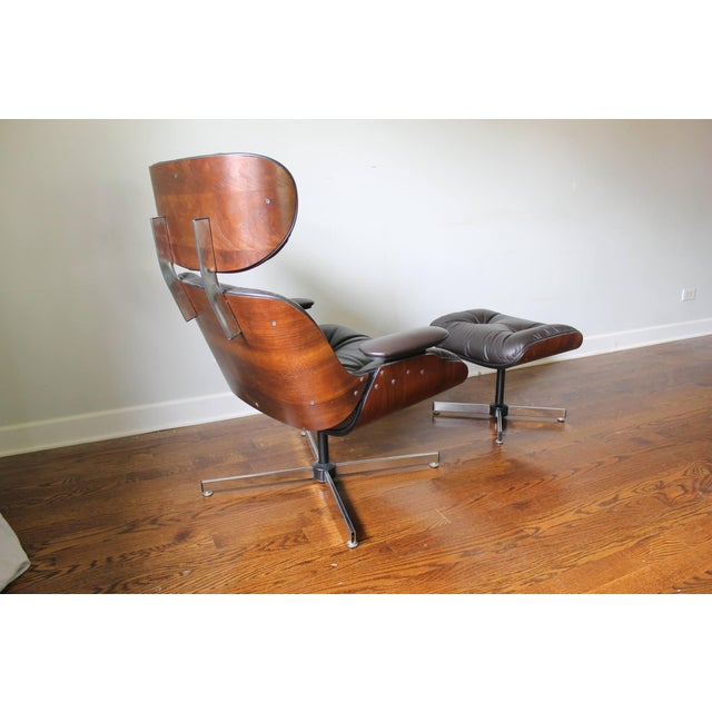 Plycraft Mid-Century Lounge Chair & Ottoman - Image 4 of 10