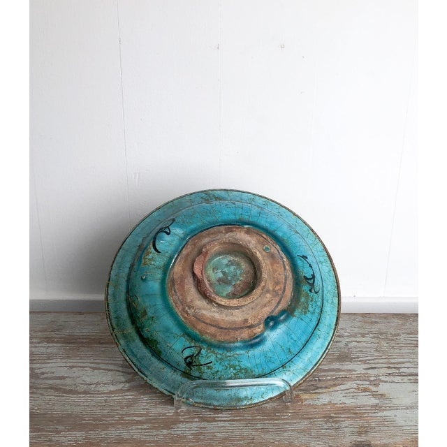 Turquoise Kushan Turquoise Plate For Sale - Image 8 of 10