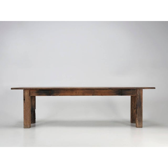 Antique French Industrial Work Table or Rustic Farm Dining Table, Circa 1900 For Sale - Image 10 of 10