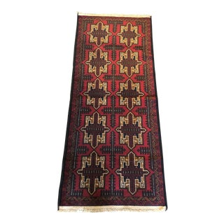 Baluch Geometric Tribal Persian Runner Rug - 2′7″ × 6′7