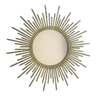 Global Views Studio a Mini Spike Brass Iron Mirror For Sale