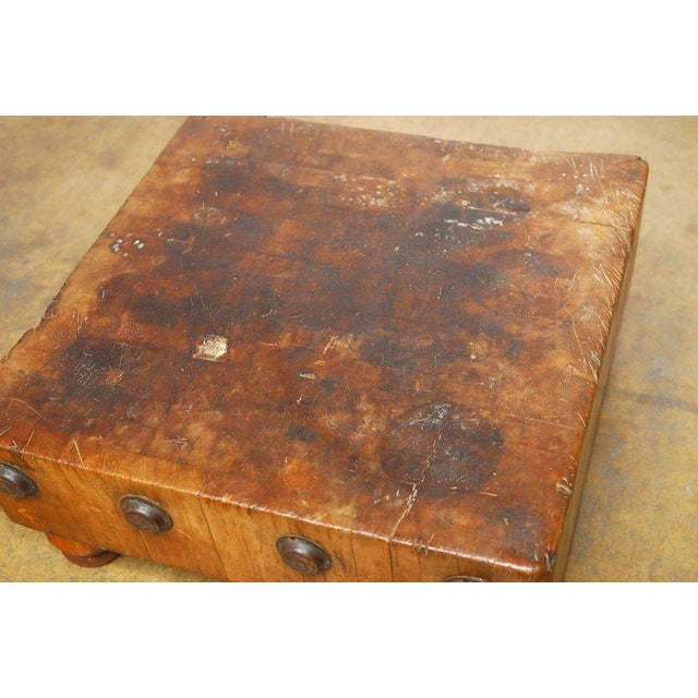 Michigan Maple Wood-Welded Table Top Butcher Block For Sale - Image 4 of 10