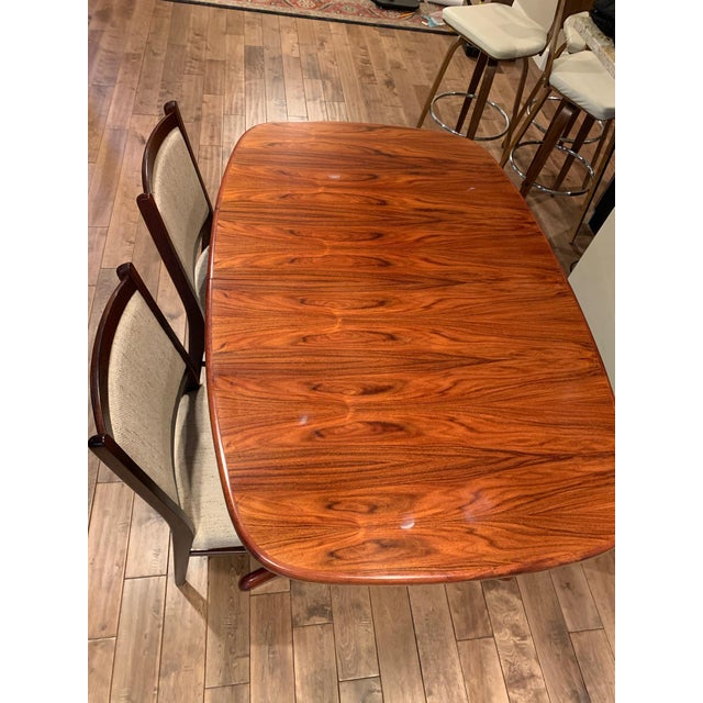 1970s Rasmus Vintage Rosewood 9 Piece Dining Set For Sale - Image 5 of 13