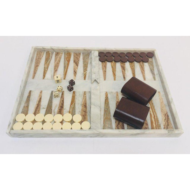 Italian Onyx and Marble Backgammon Set, 1960s For Sale - Image 12 of 13