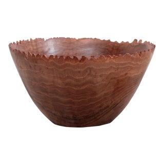 Huge Turned Wood Bowl by Woodworker Eckart Mohlenbeck For Sale