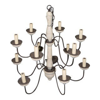 Paul Ferrante Large Scale 12 Candelabra Chandelier C.2000 For Sale