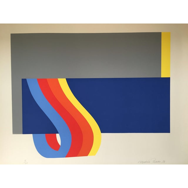 """Nadine Pardo, Rainbow Swirl 1972 Silkscreen on Paper edition 18/120 32"""" x 24"""", Unframed Signed and dated in pencil lower..."""