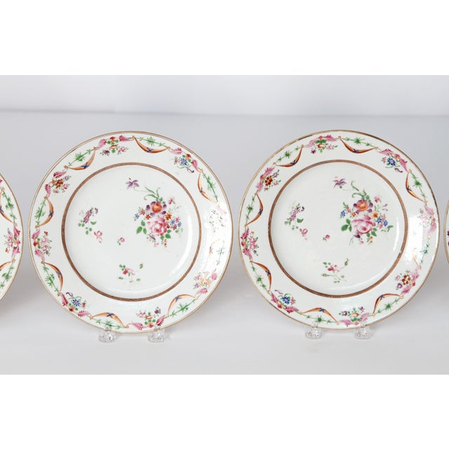 Early 19th Century Chinese Porcelain Plates Set of Six For Sale In Dallas - Image 6 of 13