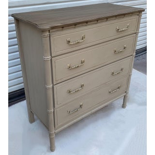 Mid-Century Painted Faux Bamboo Tall Chest Preview