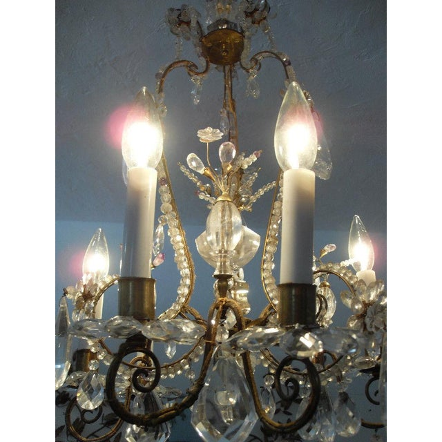 19th Century Maison Bagues Rock Crystal Chandelier For Sale - Image 10 of 10