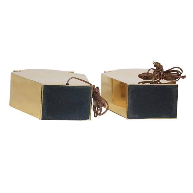 Mid-Century Chapman Brass Table Lamps - A Pair - Image 10 of 10