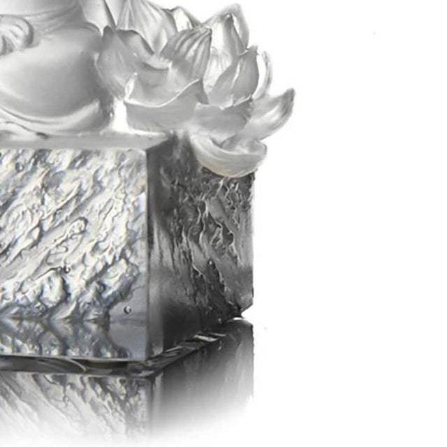 LIULI Crystal Art Liuli Crystal Art Crystal Guanyin (Limited Edition) For Sale - Image 4 of 7
