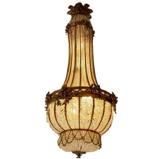 French Louis XVI Style Ormolu and Crystal Chandelier, 19th Century For Sale