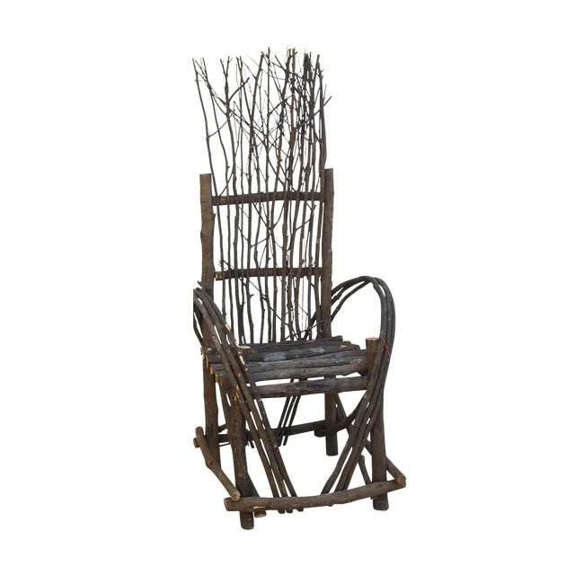 Adirondack Bent Twig Willow Chair - Image 1 of 6