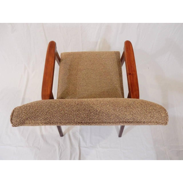 French Pair of Vintage Armchairs, French, 1950s For Sale - Image 3 of 8