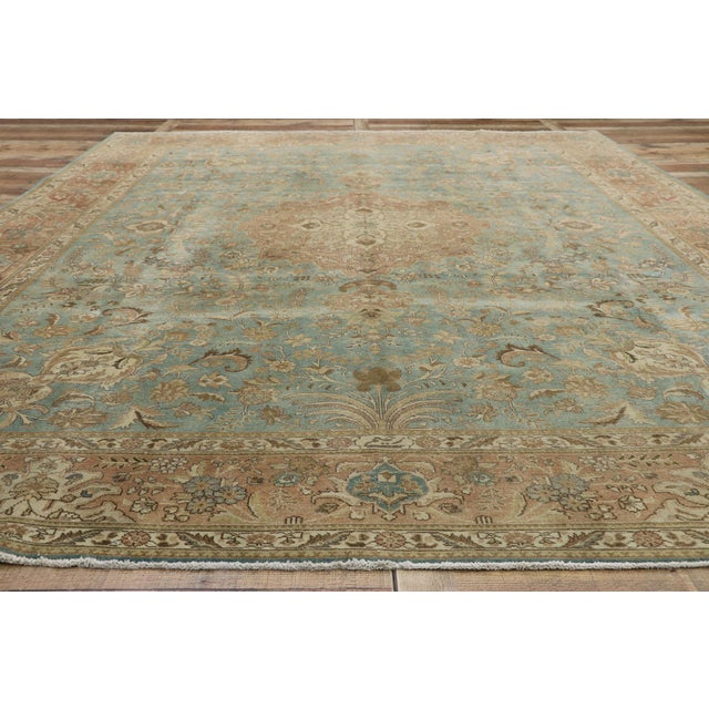 Textile Vintage Tabriz Rug With Gustavian Style - 09'09 X 12'07 For Sale - Image 7 of 10