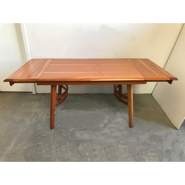 Mid-Century Modern Cherrywood Dining Table in the Manner of Paul Laszlo For Sale - Image 3 of 8