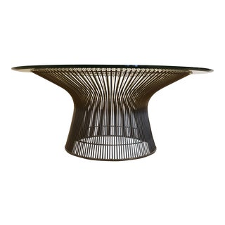 Warren Platner for Knoll Wire Coffee Table With Beveled Glass Top For Sale