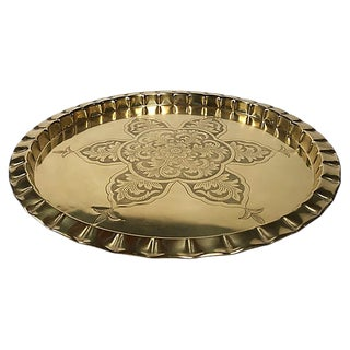 Etched Brass Tray For Sale