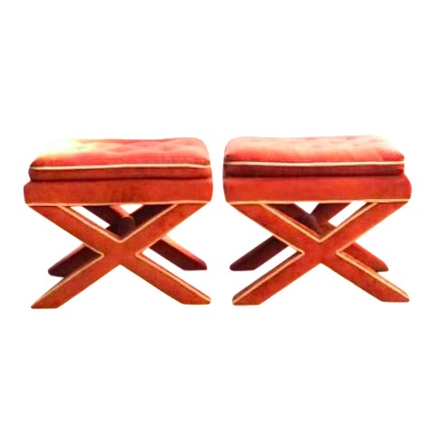 Billy Baldwin Attributed Ottomans - A Pair - Image 1 of 5