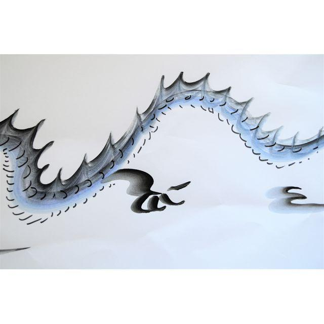 2010s Contemporary Chinese Calligraphy Dragon Signed Black on White For Sale - Image 5 of 7