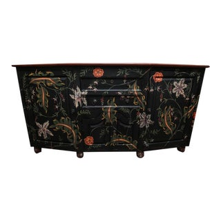 Guild Master Hand-Painted Sideboard Cabinet For Sale