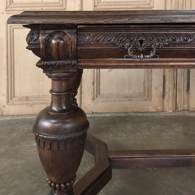19th Century French Renaissance Desk ~ Bureau Plat For Sale - Image 11 of 13