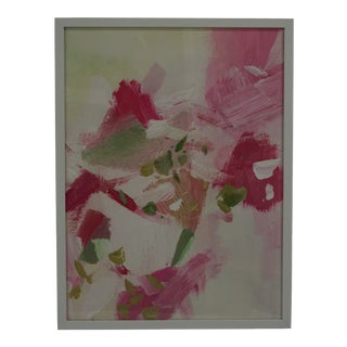 Pink & Green Abstract Painting