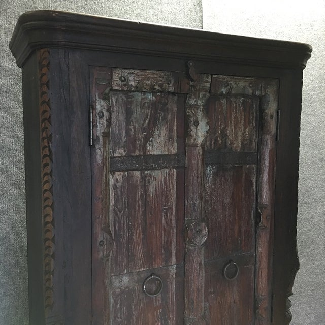 Handcrafted Tall Wooden Armoire by Buena Vista - Image 8 of 11