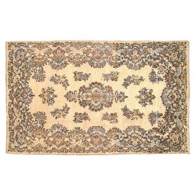 1940s 1940s Vintage Persian Kerman Oriental Rug - 4′ × 6′4″ For Sale - Image 5 of 5